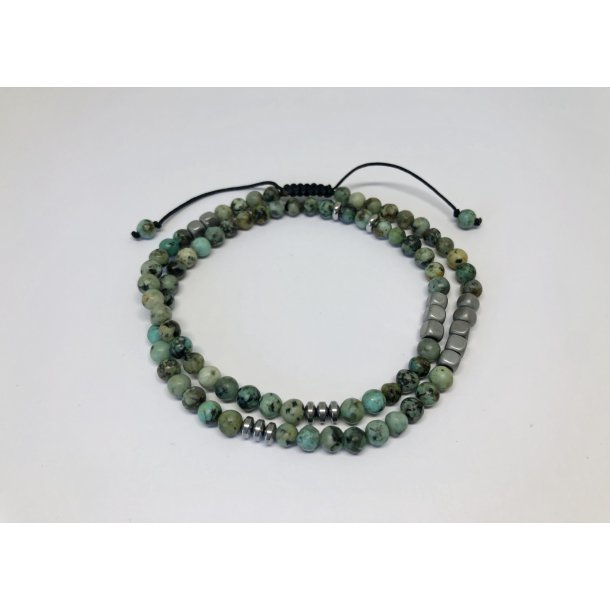 Bransoletka African Turquoise Double