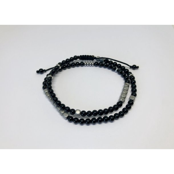 Bransoletka Black Onyx Double