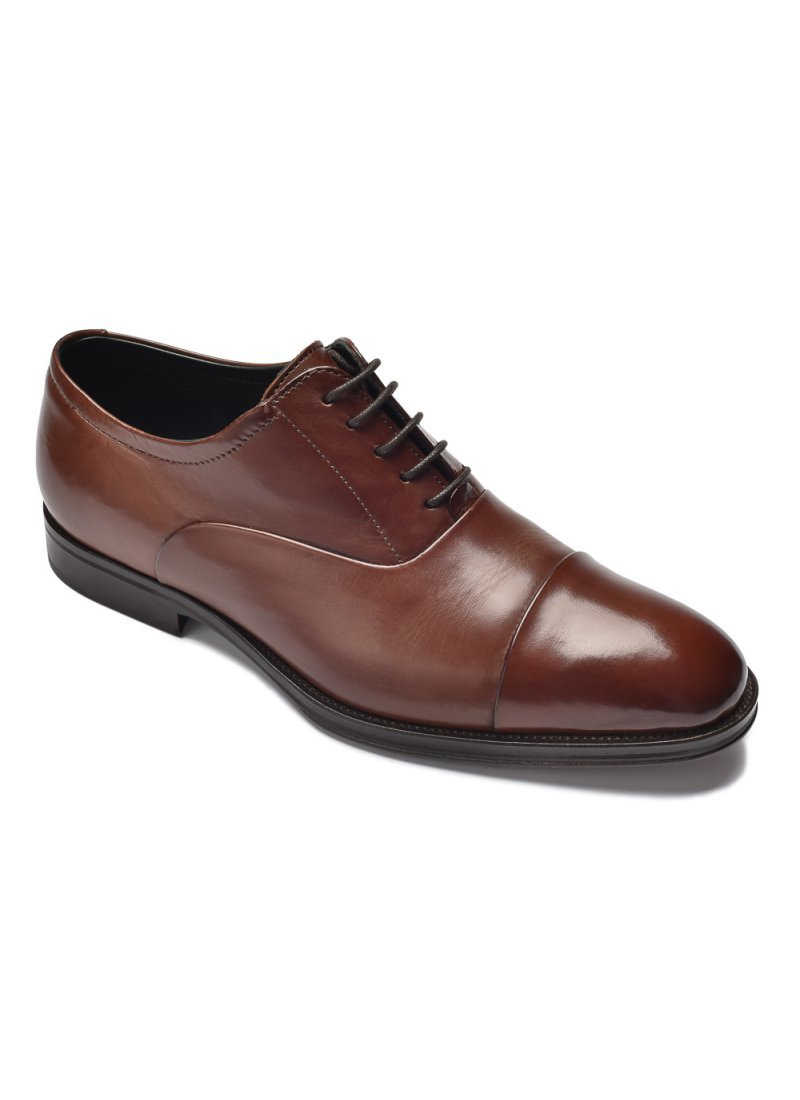 8b58ce1f Eleganckie brązowe skórzane buty męskie typu Oxford - Oksfordy ...