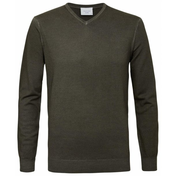 Pullover v-neck zielony