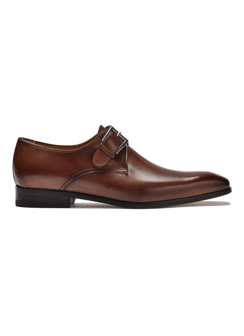 9c98e0068f4e9 Eleganckie brązowe buty męskie typu monk Othello - Monki - Buty ...