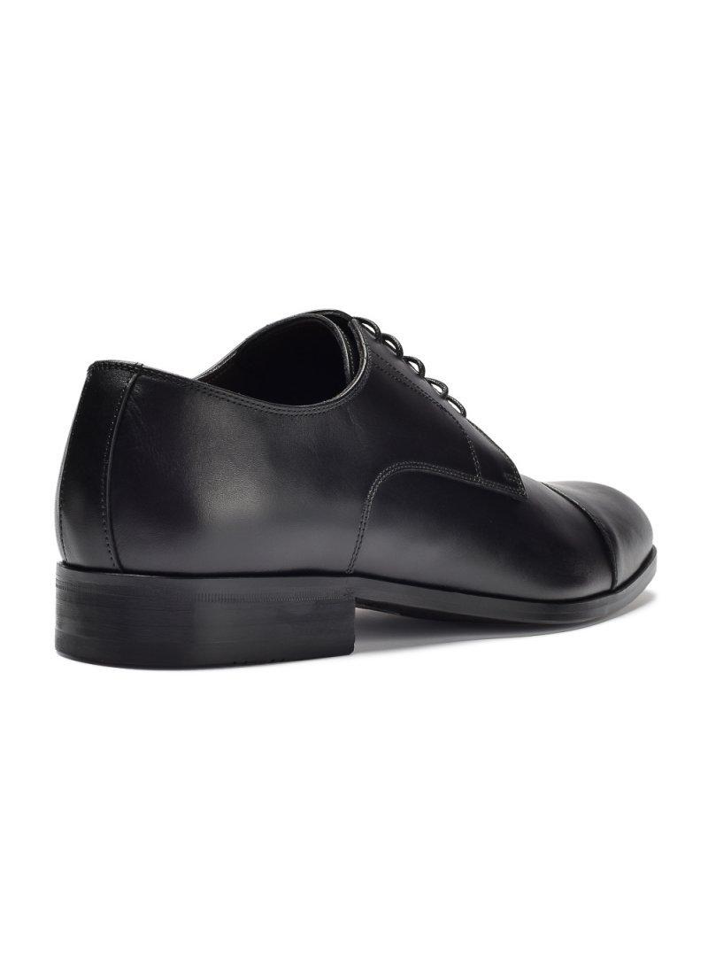 08bd01da Eleganckie i luksusowe czarne skórzane buty męskie typu derby. Producent: Roberto  Morelli