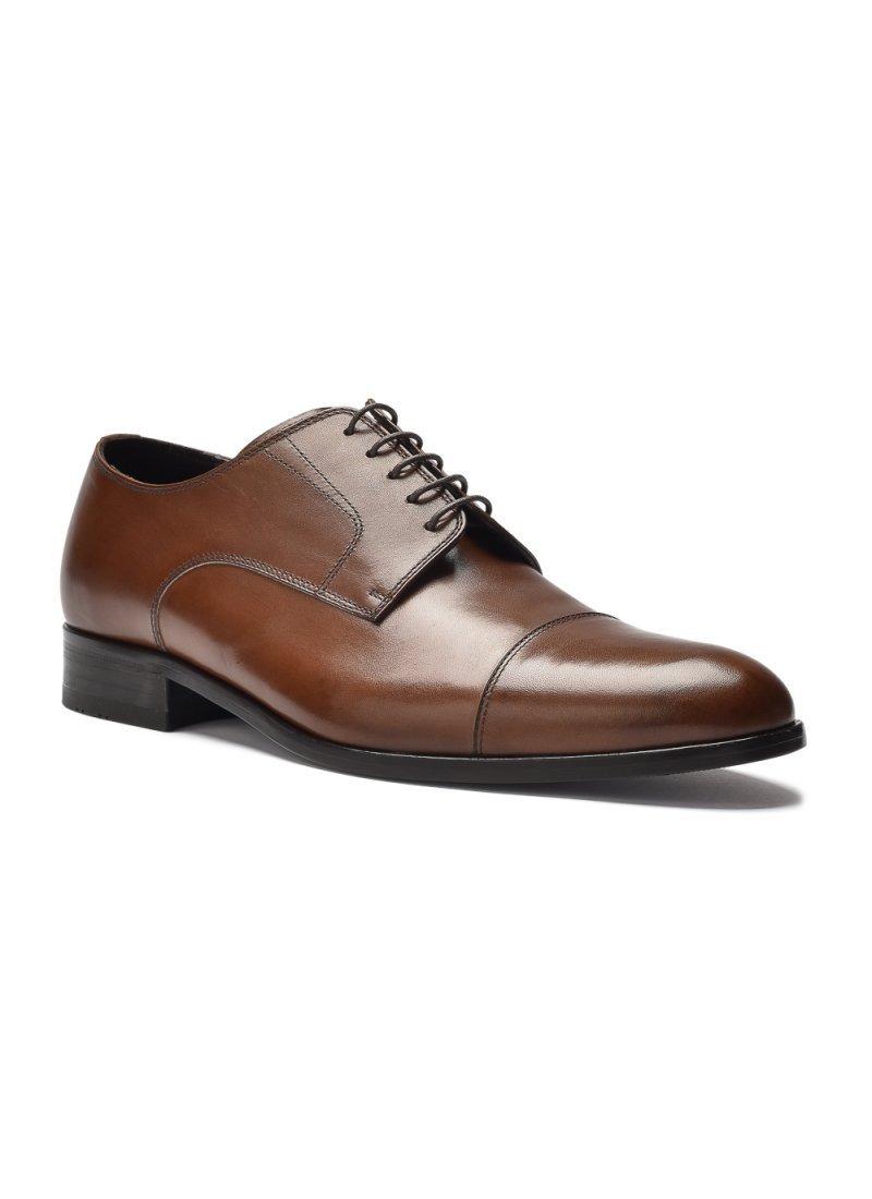 e3277b62 Eleganckie i luksusowe brązowe skórzane buty męskie typu derby. Producent: Roberto  Morelli