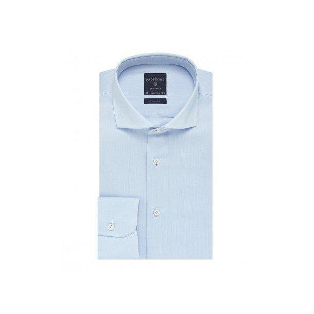 305d696ceda9d0 Elegancka błekitna koszula męska taliowana, SLIM FIT, włoski kołnierzyk