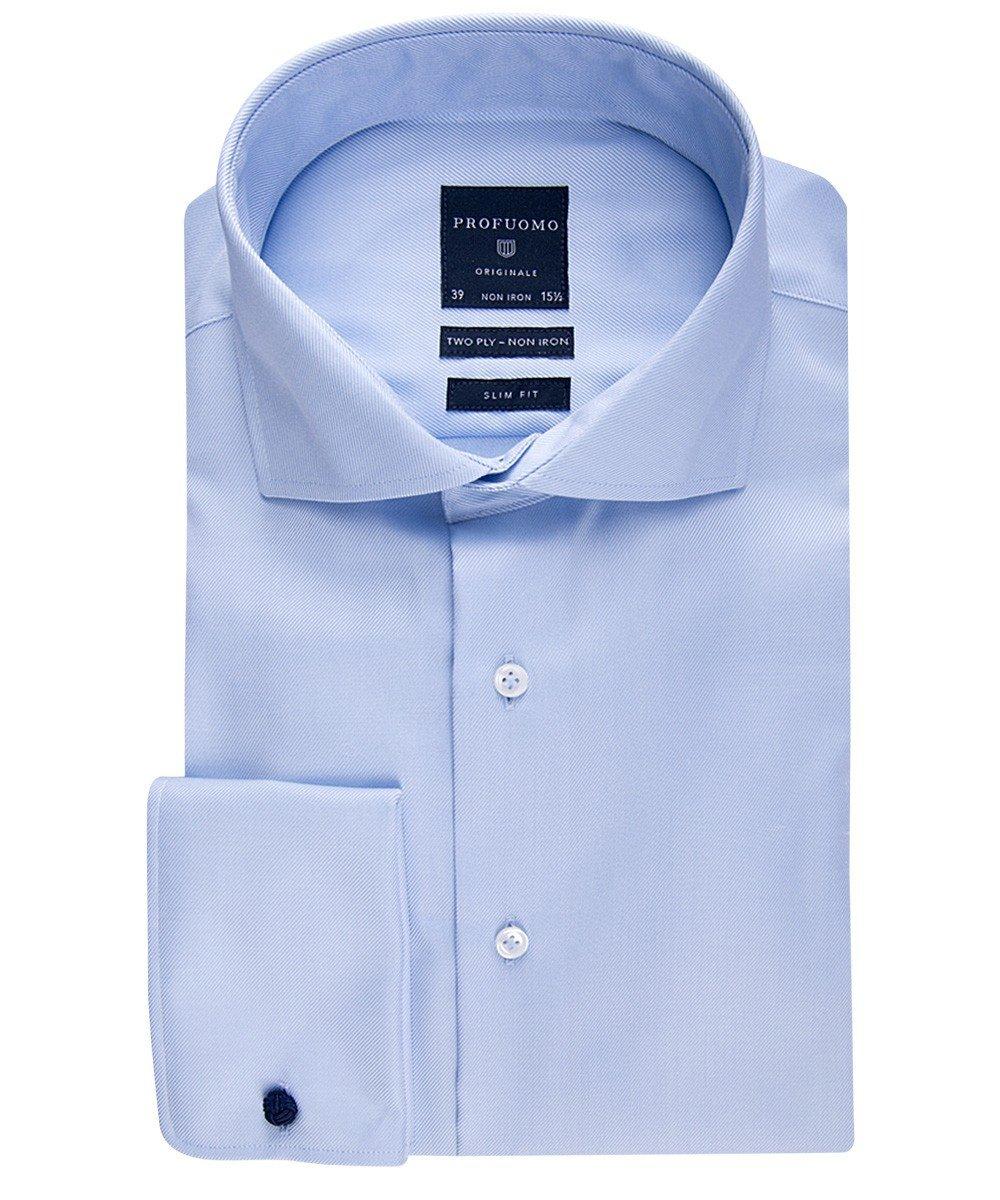 Elegancka błękitna koszula męska taliowana (SLIM FIT  N9TSK