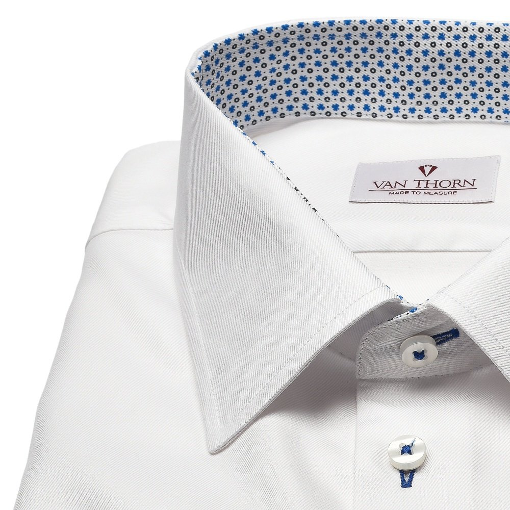 2e55bad6 Elegancka biała koszula męska VAN THORN z klasycznym kołnierzykiem i  mankietami na spinki